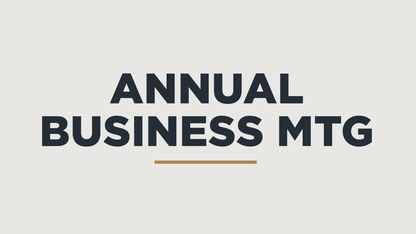 Annual Business Meeting